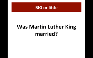 Was MLK married?