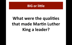 MLK Qualities