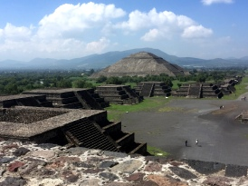 The Sun Pyramid, taken from half way up the Mood Pyramid, Teotihuacan