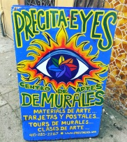 Precita Eyes Tour Sign